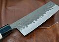 TOJIRO, DP  Hammered Finish with wood handle, NAKIRI, 165mm (F-1113)