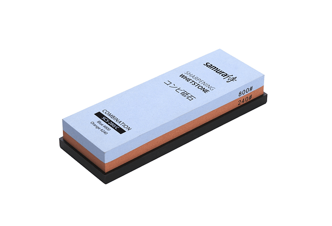 SAMURA, sharpening whetstone w/platform, COMBINATION #240/800, SCS-280/C