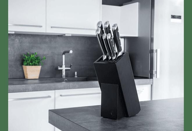 Boker Forge, Juego de cuchillos de cocinero y Block Set, 7 piezas