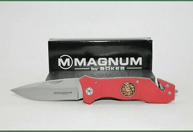 Boker Magnum Fire Brigade 42 pocket knife, Red Aluminum