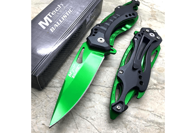 MTECH USA,PLEGABLE,VERDE,LARGO HOJA 3.75 CM