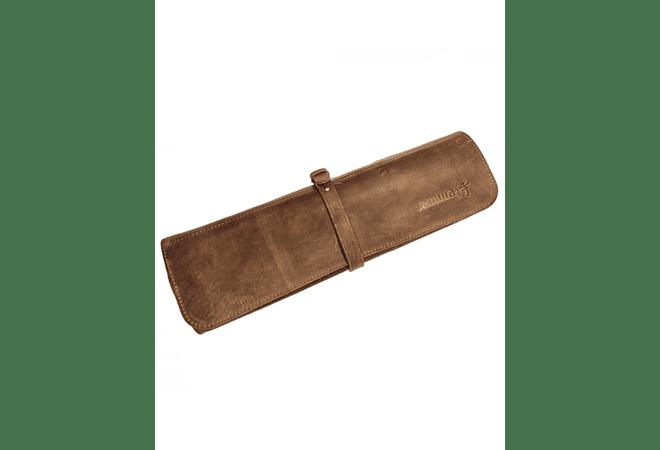 Samura porta cuchillos de cuero color marrón