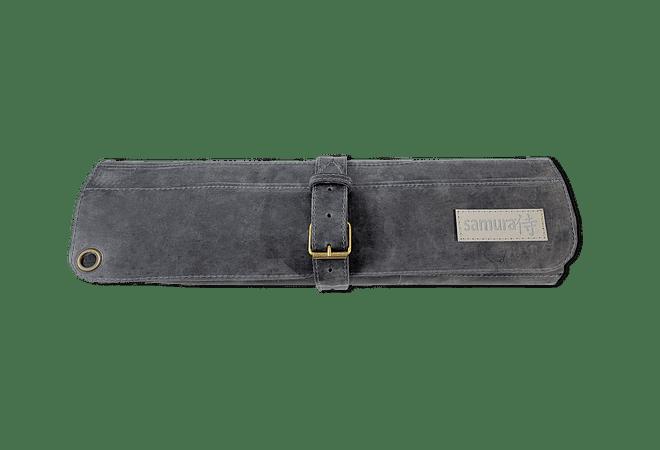 Samura porta cuchillos de cuero color negro