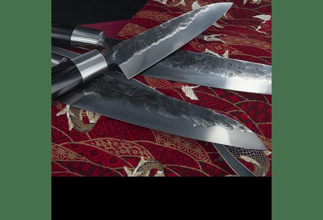 Set SAMURA  de 3 cuchillos Blacksmith