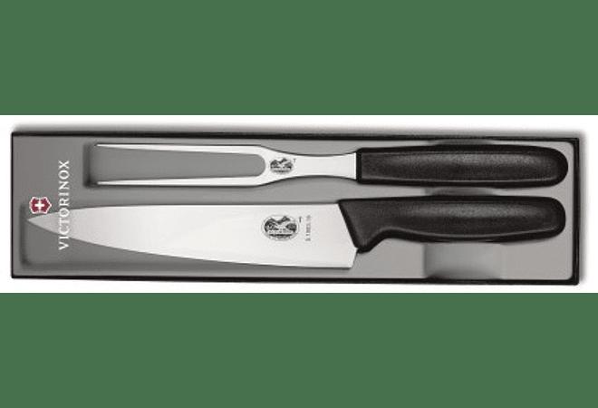 Victorinox SWISS CLASSIC, juego para trinchar, set 2 piezas, Cuchillo y Tenedor