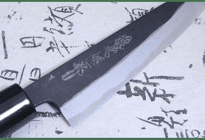 TOJIRO,  Black finished, Chef,  180 mm (F-693)