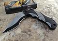 MTECH XTREME,Ballistic Black Grey Assisted Tactical Flipper Pocket Knife, MX-A801GY