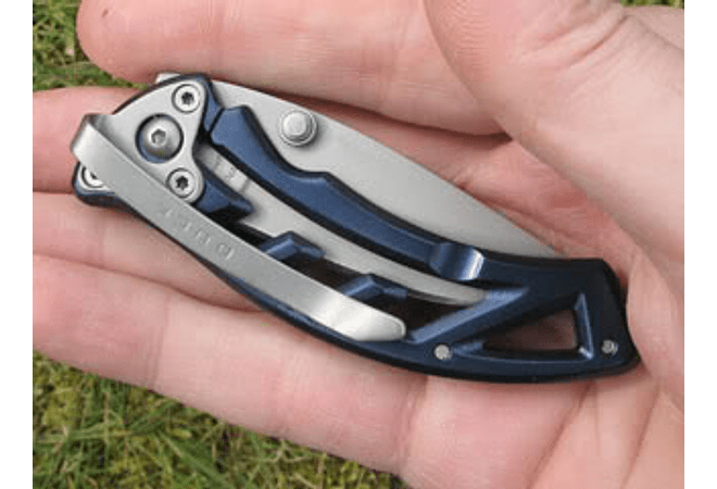 Buck Parallex Plegable Combo Blade, Mango Azul, hoja 7 cms.