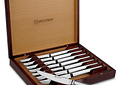 Wusthof Silverpoint II, 8 Cuchillos Carniceros de Acero Aleman en Caja de Madera.