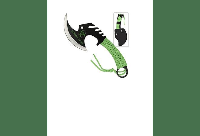 ZOMBIE KILLER SKULLSPLITTER THROWING AXW-GREEN NEW