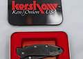 Kershaw 1600BLK Chive Assisted, Filo Liso Negro, Mango Stainless Steel, hoja 4.9 cms.