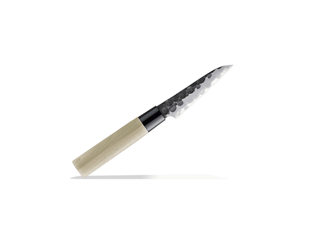 TOJIRO DP  Hammered Finish w/wood handle, PETTY  (F-1110)