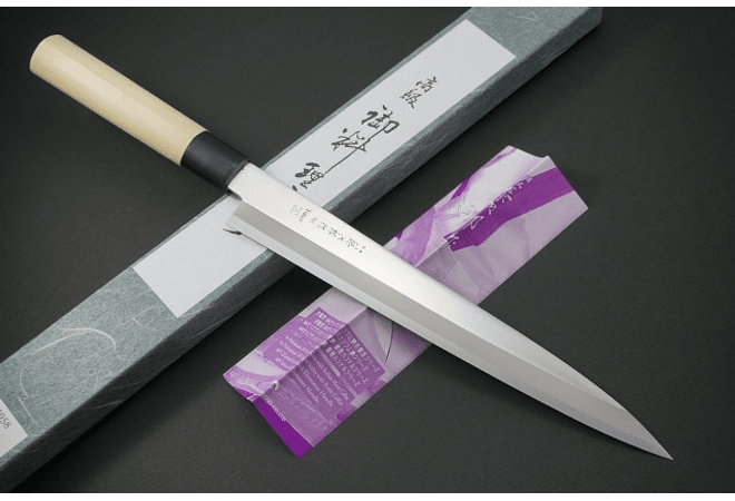 TOJIRO, Sushi Yanagi-Sashimi, Molybdenum MV series with Resin Collar (F-1059)