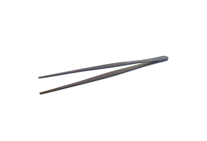 Pinza de ACERO inoxidable para emplatar, modelo recto, 30 cm