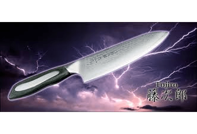 TOJIRO Flash series, DAMASCUS,  Set Tenedor y Cuchillo (FFSA181)