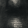 Napa gris oscuro estampada cocodrilo