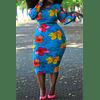 Autumn Stretch Floral Dress (no belt)