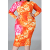 Autumn Tie-dyed Reversible Stretch Zip-up Dress