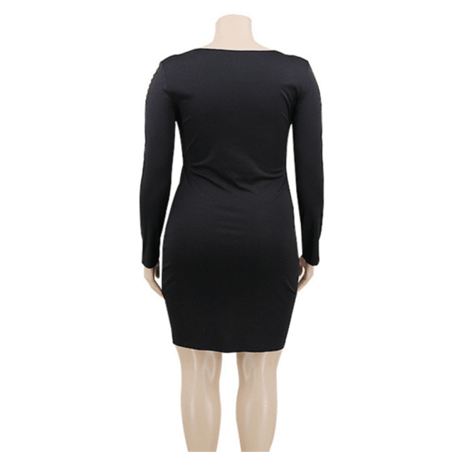 Black Cutout Stylish Stretch Dress