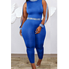 Ribbon Spliced Stretch Hollow Jumpsuit