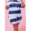 Tie-dyed Stretch Hooded Stylish Casual Two-piece Set