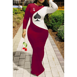 Queen of Spade Stretch Dress