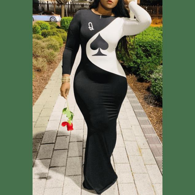 Queen of Spade Stretch Dress