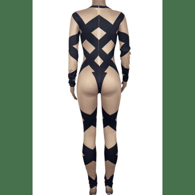 Bandage Print Jumpsuit