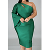 Skip to the end of the images gallery Skip to the beginning of the images  Solid Color One Shoulder Dress