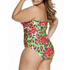 Multicolored Leopard Print One Piece Bathing Suit