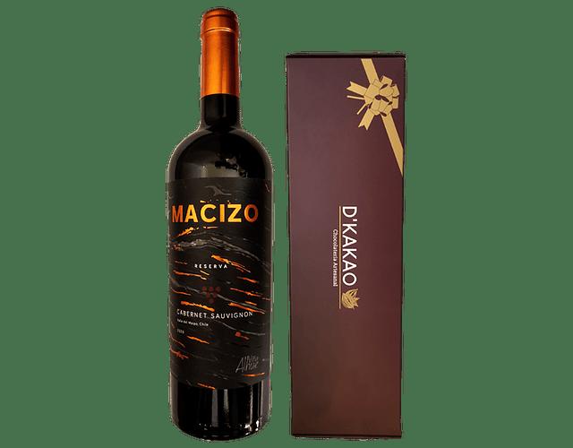 Caja de 12 Alfajores tradicional + Vino Reserva Viña Alhué
