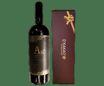 Caja de 12 Alfajores de sabores + Vino Gran Reserva Viña Alhué