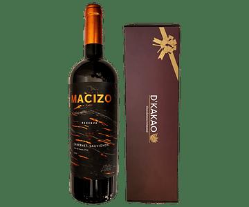 Caja de 12 Alfajores de sabor + Vino Reserva Viña Alhué