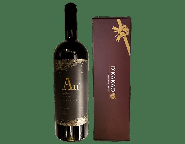 Caja de 12 Alfajores tradicionales + Vino Gran Reserva Viña Alhué