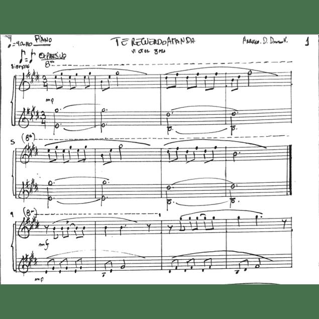 Arrangement (Piano): Te recuerdo Amanda