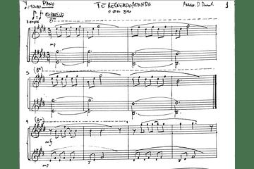 Arreglo para Piano: Te recuerdo Amanda