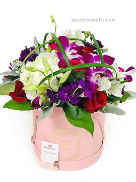 Caja con Mix de Flores