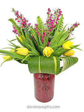 Tulips and Boronia Bouquet
