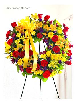Colorida Corona de Condolencias