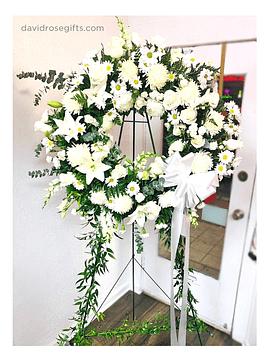 Corona Floral en Blanco