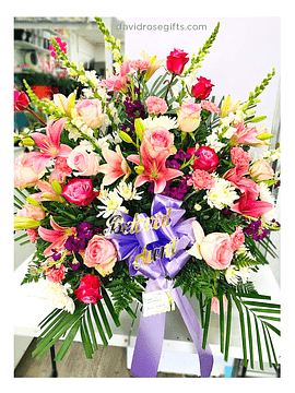 Sympathy Basket Pink and Lavender Collection