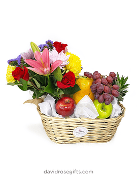 Flowers and Fruits Basket