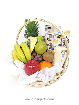 Cheese, Crackers and Fruit Basket