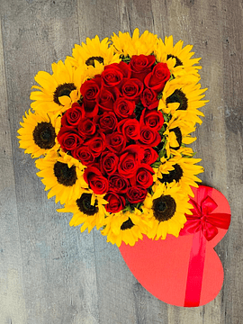 Sunflowers and Roses Box