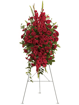 Radiant Red Roses Standing Spray