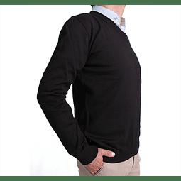 Buzo B1B Cuello V Negro (55)