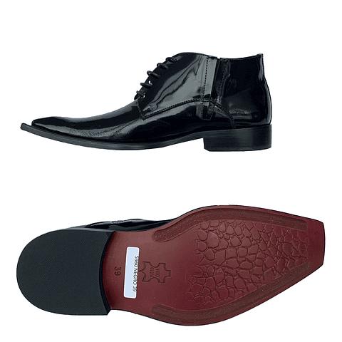 Zapato Z2 Botín Punta Cuadrada Negro (55)