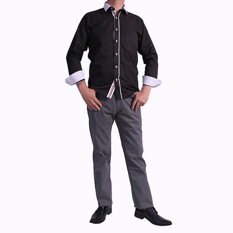 Camisa DC1 Negro Rosado (505)