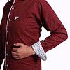 Camisa Dc5 Vinotinto Blanco (525)