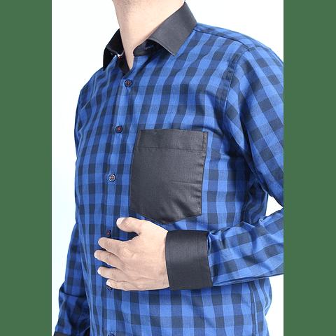 Camisa Dc5 Azul Negro (308)